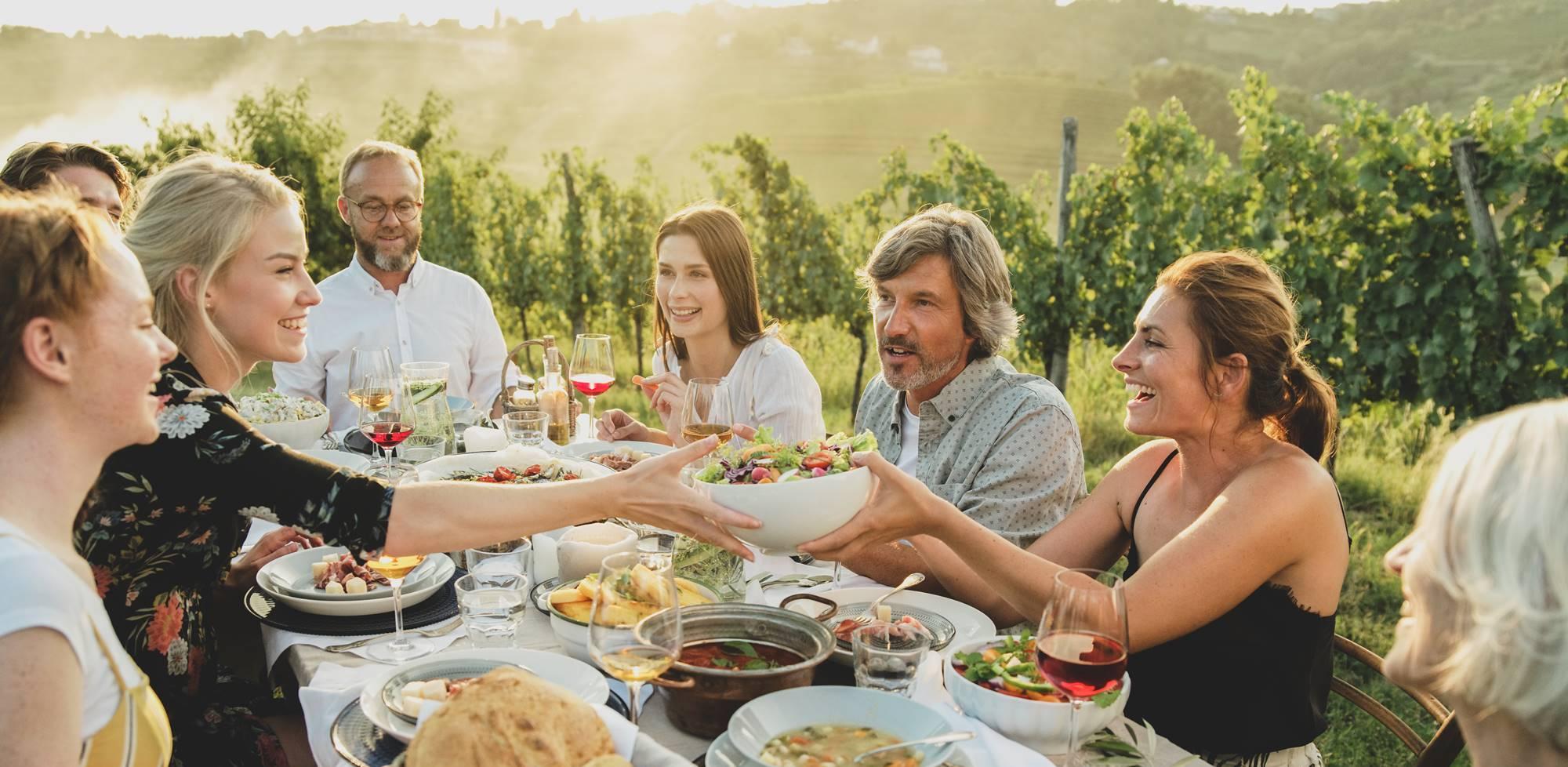 Večerja v vinogradu