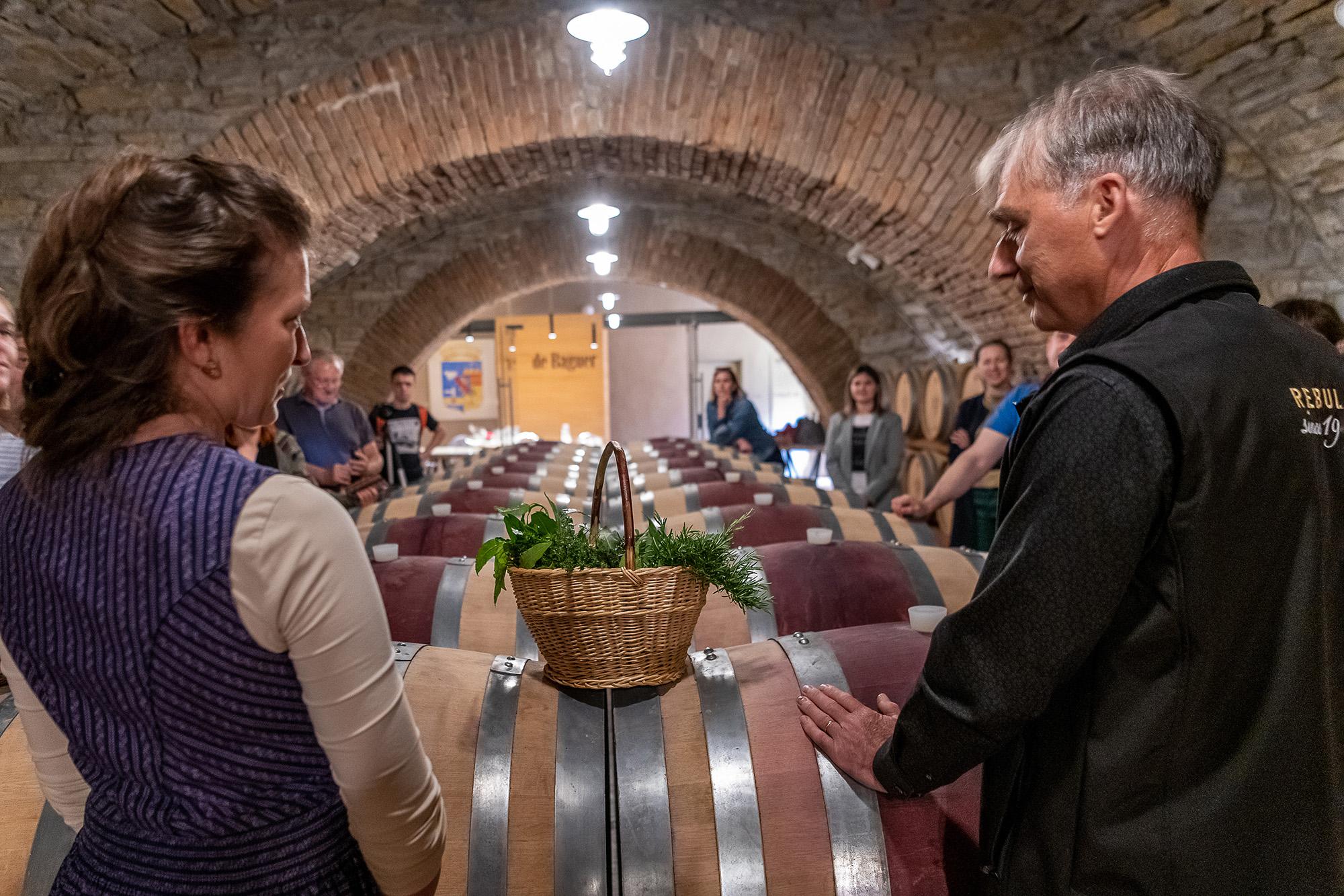 De Baguer Wine Cellar and herbs