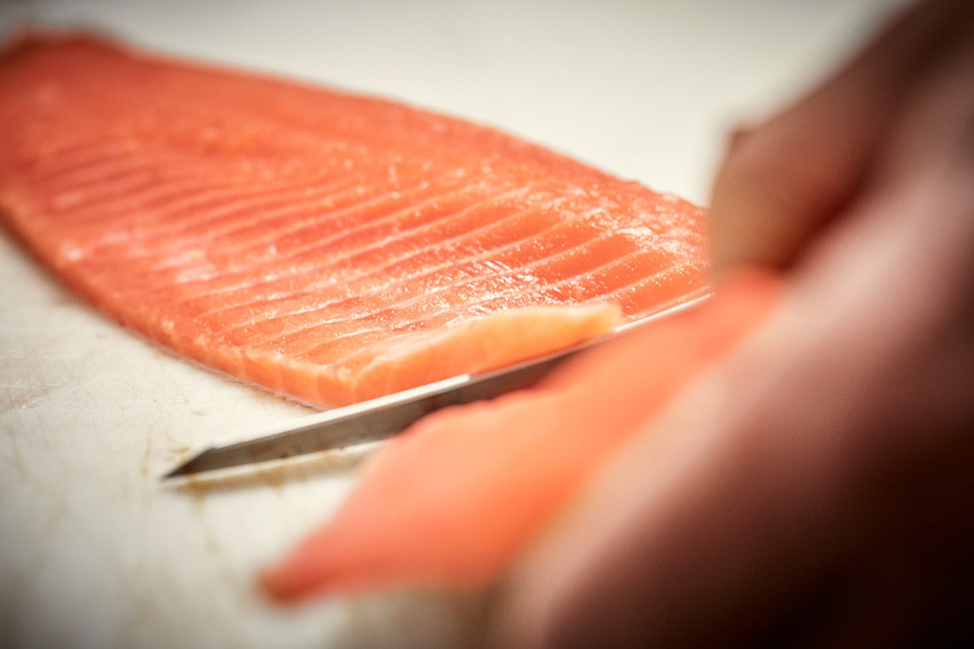 filleting the trout