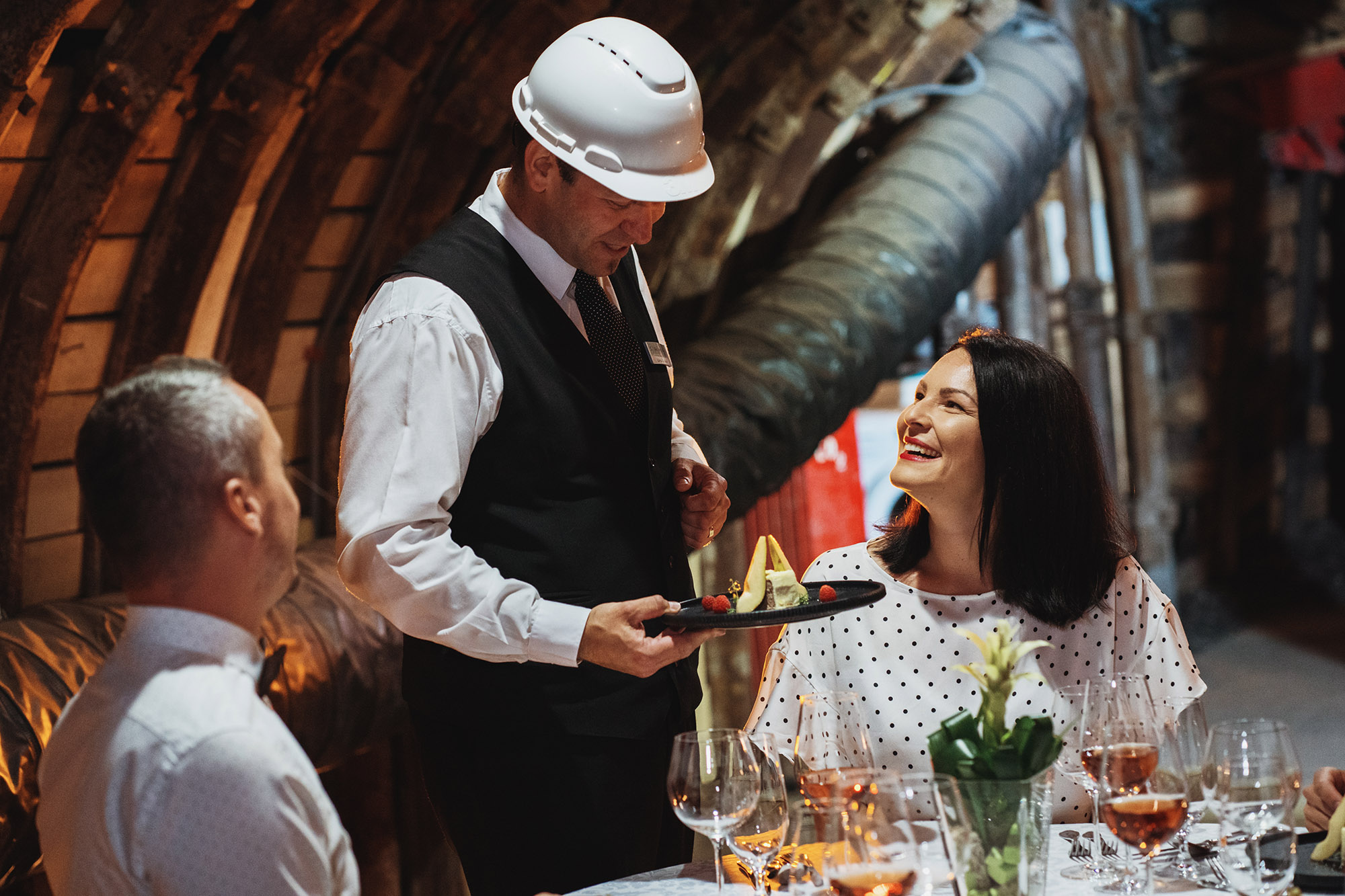 fine dining in a Slovenian mine