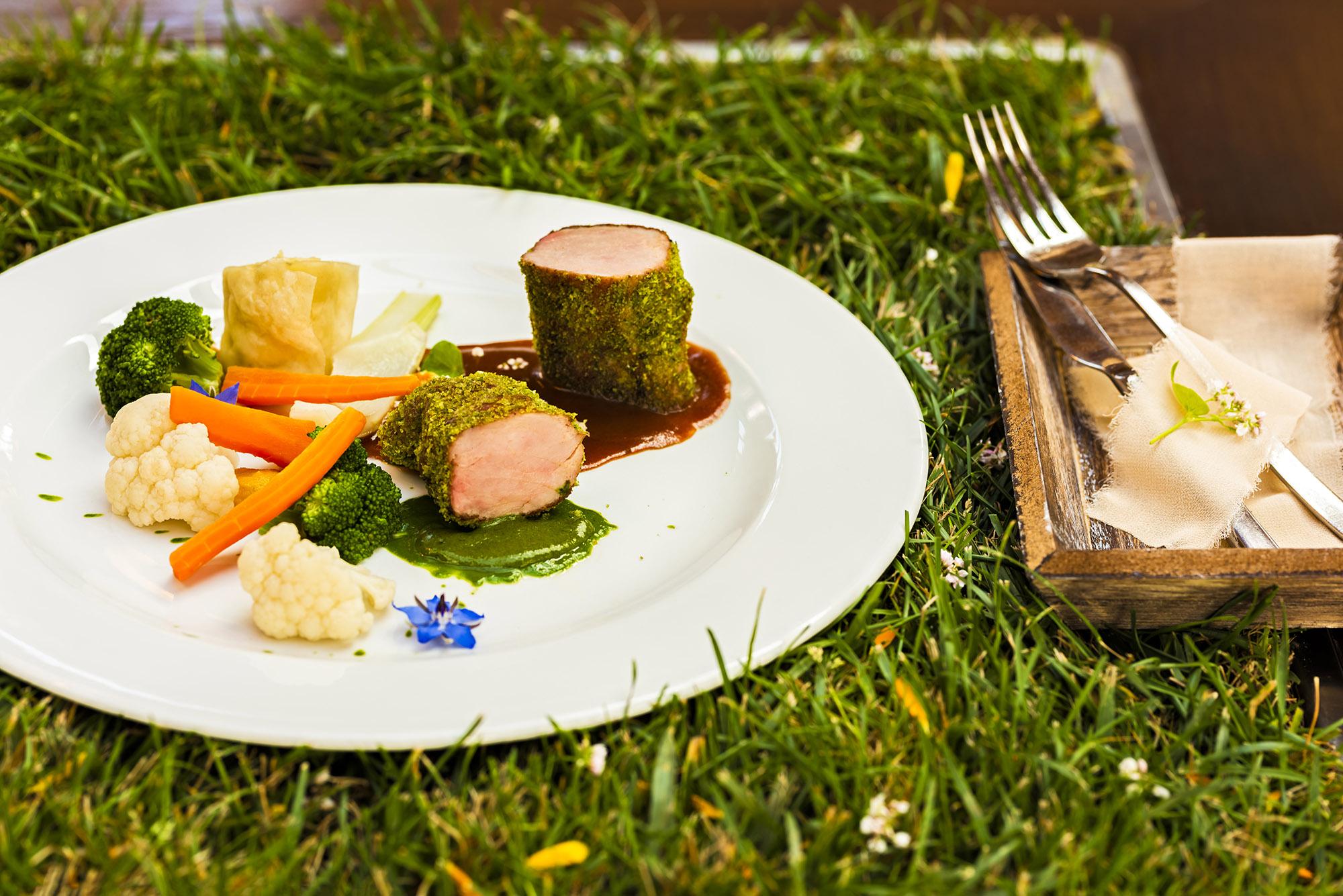 slovenian gastronomy in Garden village Bled