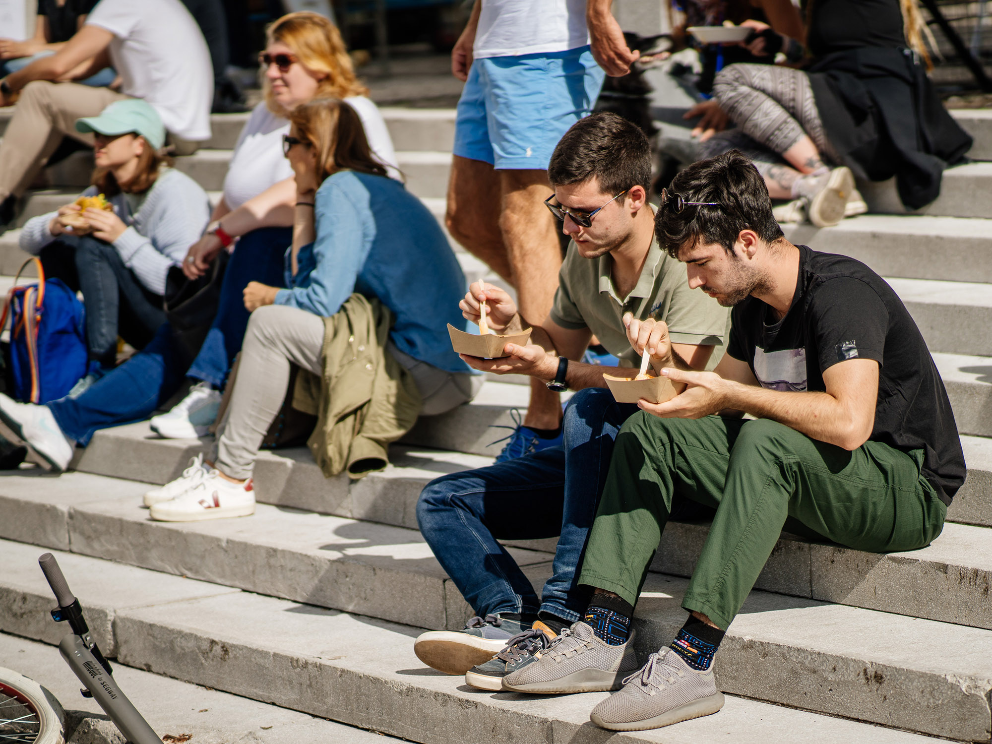 Socialising around food in the streets and squares